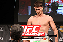 LAS VEGAS, NV - DECEMBER 02:  Michael Bisping weighs in at the official weigh-in for The Ultimate Fighter 14 Finale at The Palms Casino Resort on December 2, 2011 in Las Vegas, Nevada.  (Photo by Josh Hedges/Zuffa LLC/Zuffa LLC via Getty Images)