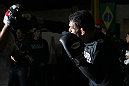 "TORONTO, ON - DECEMBER 07:  Antonio Rodrigo ""Minotauro"" Nogueira works out for the fans and media during the UFC 140 Open Workouts at the Xtreme Couture Gym on December 7, 2011 in Toronto, Ontario.  (Photo by Josh Hedges/Zuffa LLC/Zuffa LLC via Getty Images)"