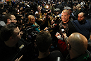TORONTO, ON - DECEMBER 07:  Tito Ortiz answers questions from the media during the UFC 140 Open Workouts at the Xtreme Couture Gym on December 7, 2011 in Toronto, Ontario.  (Photo by Josh Hedges/Zuffa LLC/Zuffa LLC via Getty Images)