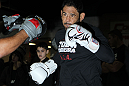 TORONTO, ON - DECEMBER 07:  Antonio Rogerio &quot;Minotoro&quot; Nogueira works out for the fans and media during the UFC 140 Open Workouts at the Xtreme Couture Gym on December 7, 2011 in Toronto, Ontario.  (Photo by Josh Hedges/Zuffa LLC/Zuffa LLC via Getty Images)