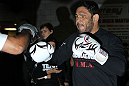 "TORONTO, ON - DECEMBER 07:  Antonio Rogerio ""Minotoro"" Nogueira works out for the fans and media during the UFC 140 Open Workouts at the Xtreme Couture Gym on December 7, 2011 in Toronto, Ontario.  (Photo by Josh Hedges/Zuffa LLC/Zuffa LLC via Getty Images)"