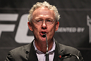 TORONTO, ON - DECEMBER 08:  UFC Director of Canadian Operations Tom Wright attends the final UFC 140 pre-fight press conference at Bell Tiff Lightbox Cinema1 on December 8, 2011 in Toronto, Canada.  (Photo by Josh Hedges/Zuffa LLC/Zuffa LLC via Getty Images)