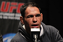 "TORONTO, ON - DECEMBER 08:  Antonio Rogerio ""Minotoro"" Nogueira attends the final UFC 140 pre-fight press conference at Bell Tiff Lightbox Cinema1 on December 8, 2011 in Toronto, Canada.  (Photo by Josh Hedges/Zuffa LLC/Zuffa LLC via Getty Images)"