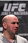 TORONTO, ON - DECEMBER 08:  UFC President Dana White attends the final UFC 140 pre-fight press conference at Bell Tiff Lightbox Cinema1 on December 8, 2011 in Toronto, Canada.  (Photo by Josh Hedges/Zuffa LLC/Zuffa LLC via Getty Images)