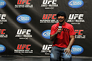TORONTO, ON - DECEMBER 09:  UFC Middleweight contender Mark Munoz interacts with fans during a Q&A session before the UFC 140 Official Weigh-in at the Air Canada Centre on December 9, 2011 in Toronto, Canada.  (Photo by Josh Hedges/Zuffa LLC/Zuffa LLC via Getty Images)