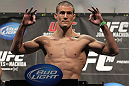 TORONTO, ON - DECEMBER 09:  John Cholish weighs in during the UFC 140 Official Weigh-in at the Air Canada Centre on December 9, 2011 in Toronto, Canada.  (Photo by Josh Hedges/Zuffa LLC/Zuffa LLC via Getty Images)