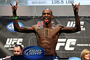 TORONTO, ON - DECEMBER 09:  Walel Watson weighs in during the UFC 140 Official Weigh-in at the Air Canada Centre on December 9, 2011 in Toronto, Canada.  (Photo by Josh Hedges/Zuffa LLC/Zuffa LLC via Getty Images)