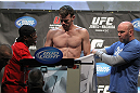 TORONTO, ON - DECEMBER 09:  Dennis Hallman weighs in during the UFC 140 Official Weigh-in at the Air Canada Centre on December 9, 2011 in Toronto, Canada.  (Photo by Josh Hedges/Zuffa LLC/Zuffa LLC via Getty Images)