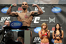 TORONTO, ON - DECEMBER 09:  Constantinos Philippou weighs in during the UFC 140 Official Weigh-in at the Air Canada Centre on December 9, 2011 in Toronto, Canada.  (Photo by Josh Hedges/Zuffa LLC/Zuffa LLC via Getty Images)