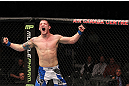 TORONTO, ON - DECEMBER 10:  Jake Hecht reacts after defeating Rich Attonito by TKO during the UFC 140 event at Air Canada Centre on December 10, 2011 in Toronto, Ontario, Canada.  (Photo by Nick Laham/Zuffa LLC/Zuffa LLC via Getty Images)