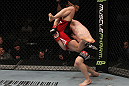 TORONTO, ON - DECEMBER 10:  (R-L) Mark Bocek takes down Nik Lentz during the UFC 140 event at Air Canada Centre on December 10, 2011 in Toronto, Ontario, Canada.  (Photo by Nick Laham/Zuffa LLC/Zuffa LLC via Getty Images)