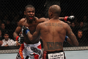 TORONTO, ON - DECEMBER 10:  (L-R) Yves Jabouin punches Walel Watson during the UFC 140 event at Air Canada Centre on December 10, 2011 in Toronto, Ontario, Canada.  (Photo by Nick Laham/Zuffa LLC/Zuffa LLC via Getty Images)