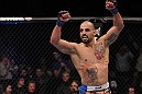 TORONTO, ON - DECEMBER 10:  Constantinos Philippou reacts after knocking out Jared Hamman during the UFC 140 event at Air Canada Centre on December 10, 2011 in Toronto, Ontario, Canada.  (Photo by Nick Laham/Zuffa LLC/Zuffa LLC via Getty Images)