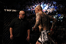 TORONTO, ON - DECEMBER 10:  Krzysztof Soszynski enters the Octagon before his bout against Igor Pokrajac during the UFC 140 event at Air Canada Centre on December 10, 2011 in Toronto, Ontario, Canada.  (Photo by Josh Hedges/Zuffa LLC/Zuffa LLC via Getty Images)