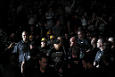 TORONTO, ON - DECEMBER 10:  Mark Hominick of London, Ontario enters the arena before his bout against Chan Sung Jung during the UFC 140 event at Air Canada Centre on December 10, 2011 in Toronto, Ontario, Canada.  (Photo by Nick Laham/Zuffa LLC/Zuffa LLC via Getty Images)