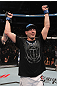 TORONTO, ON - DECEMBER 10:  Brian Ebersole reacts after defeating Claude Patrick during the UFC 140 event at Air Canada Centre on December 10, 2011 in Toronto, Ontario, Canada.  (Photo by Nick Laham/Zuffa LLC/Zuffa LLC via Getty Images)