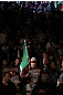 TORONTO, ON - DECEMBER 10:  Tito Ortiz enters the arena before his bout against Antonio Rogerio Nogueira during the UFC 140 event at Air Canada Centre on December 10, 2011 in Toronto, Ontario, Canada.  (Photo by Nick Laham/Zuffa LLC/Zuffa LLC via Getty Images)