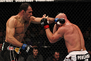 TORONTO, ON - DECEMBER 10:  (L-R)Antonio Rogerio Nogueira punches Tito Ortiz during the UFC 140 event at Air Canada Centre on December 10, 2011 in Toronto, Ontario, Canada.  (Photo by Nick Laham/Zuffa LLC/Zuffa LLC via Getty Images)