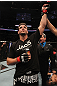 TORONTO, ON - DECEMBER 10:  Frank Mir reacts after defeating Antonio Rodrigo Nogueira by TKO during the UFC 140 event at Air Canada Centre on December 10, 2011 in Toronto, Ontario, Canada.  (Photo by Nick Laham/Zuffa LLC/Zuffa LLC via Getty Images)