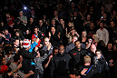 TORONTO, ON - DECEMBER 10:  Jon &quot;Bones&quot; Jones enters the arena before his bout against Lyoto Machida during the UFC 140 event at Air Canada Centre on December 10, 2011 in Toronto, Ontario, Canada.  (Photo by Nick Laham/Zuffa LLC/Zuffa LLC via Getty Images)