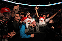 TORONTO, ON - DECEMBER 10:  Fans react during the UFC 140 event at Air Canada Centre on December 10, 2011 in Toronto, Ontario, Canada.  (Photo by Josh Hedges/Zuffa LLC/Zuffa LLC via Getty Images)