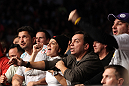TORONTO, ON - DECEMBER 10:  Members of Antonio Rodrigo Nogueira's family react during his bout against Frank Mir during the UFC 140 event at Air Canada Centre on December 10, 2011 in Toronto, Ontario, Canada.  (Photo by Josh Hedges/Zuffa LLC/Zuffa LLC via Getty Images)