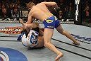 LAS VEGAS, NV - DECEMBER 30:  Alexander Gustafsson (top) attempts to finish Vladimir Matyushenko during the UFC 141 event at the MGM Grand Garden Arena on December 30, 2011 in Las Vegas, Nevada.  (Photo by Donald Miralle/Zuffa LLC/Zuffa LLC via Getty Images) *** Local Caption *** Alexander Gustafsson; Vladimir Matyushenko