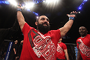 LAS VEGAS, NV - DECEMBER 30:  Johny Hendricks is declared the winner in his fight against Jon Fitch during the UFC 141 event at the MGM Grand Garden Arena on December 30, 2011 in Las Vegas, Nevada.  (Photo by Donald Miralle/Zuffa LLC/Zuffa LLC via Getty Images) *** Local Caption *** Johny Hendricks