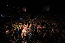 LAS VEGAS, NV - DECEMBER 30:  Brock Lesnar is prepared by cutmen for his fight with Alistair Overeem during the UFC 141 event at the MGM Grand Garden Arena on December 30, 2011 in Las Vegas, Nevada.  (Photo by Donald Miralle/Zuffa LLC/Zuffa LLC via Getty Images) *** Local Caption *** Brock Lesnar
