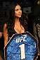 LAS VEGAS, NV - DECEMBER 30:  Octagon Girl Arianny Celeste prepares to introduce round one during the UFC 141 event at the MGM Grand Garden Arena on December 30, 2011 in Las Vegas, Nevada.  (Photo by Donald Miralle/Zuffa LLC/Zuffa LLC via Getty Images) *** Local Caption *** Arianny Celeste