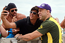 RIO DE JANEIRO, BRAZIL - JANUARY 11:  Wanderlei Silva attends the UFC 142 Open Workouts at Barra de Tijuca Beach on January 11, 2012 in Rio de Janeiro, Brazil.  (Photo by Josh Hedges/Zuffa LLC/Zuffa LLC via Getty Images)
