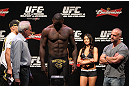 RIO DE JANEIRO, BRAZIL - JANUARY 13:  Anthony Johnson weighs in during the UFC 142 Weigh In at HSBC Arena on January 13, 2012 in Rio de Janeiro, Brazil.  (Photo by Josh Hedges/Zuffa LLC/Zuffa LLC via Getty Images)