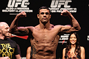 RIO DE JANEIRO, BRAZIL - JANUARY 13:  Vitor Belfort weighs in during the UFC 142 Weigh In at HSBC Arena on January 13, 2012 in Rio de Janeiro, Brazil.  (Photo by Josh Hedges/Zuffa LLC/Zuffa LLC via Getty Images)