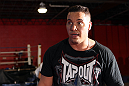 NASHVILLE, TN - JANUARY 18:  Pat Barry works out for the media during the UFC on FX open workouts at the Nashville MMA Gym on January 18, 2012 in Nashville, Tennessee.  (Photo by Josh Hedges/Zuffa LLC/Zuffa LLC via Getty Images)