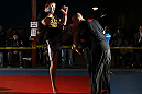 "NASHVILLE, TN - JANUARY 18:  Duane ""Bang"" Ludwig works out for the media during the UFC on FX open workouts at the Nashville MMA Gym on January 18, 2012 in Nashville, Tennessee.  (Photo by Josh Hedges/Zuffa LLC/Zuffa LLC via Getty Images)"