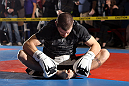 NASHVILLE, TN - JANUARY 18:  Jim Miller works out for the media during the UFC on FX open workouts at the Nashville MMA Gym on January 18, 2012 in Nashville, Tennessee.  (Photo by Josh Hedges/Zuffa LLC/Zuffa LLC via Getty Images)