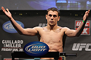 NASHVILLE, TN - JANUARY 19:  Pat Schilling weighs in during the UFC on FX official weigh in at Bridgestone Arena on January 19, 2012 in Nashville, Tennessee.  (Photo by Josh Hedges/Zuffa LLC/Zuffa LLC via Getty Images)