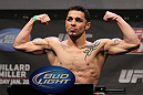 NASHVILLE, TN - JANUARY 19:  Daniel Pineda weighs in during the UFC on FX official weigh in at Bridgestone Arena on January 19, 2012 in Nashville, Tennessee.  (Photo by Josh Hedges/Zuffa LLC/Zuffa LLC via Getty Images)