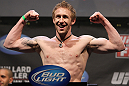 NASHVILLE, TN - JANUARY 19:  Tommy Hayden weighs in during the UFC on FX official weigh in at Bridgestone Arena on January 19, 2012 in Nashville, Tennessee.  (Photo by Josh Hedges/Zuffa LLC/Zuffa LLC via Getty Images)