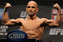 NASHVILLE, TN - JANUARY 19:  Kamal Shalorus weighs in during the UFC on FX official weigh in at Bridgestone Arena on January 19, 2012 in Nashville, Tennessee.  (Photo by Josh Hedges/Zuffa LLC/Zuffa LLC via Getty Images)