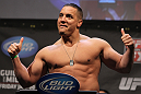 NASHVILLE, TN - JANUARY 19:  Pat Barry weighs in during the UFC on FX official weigh in at Bridgestone Arena on January 19, 2012 in Nashville, Tennessee.  (Photo by Josh Hedges/Zuffa LLC/Zuffa LLC via Getty Images)