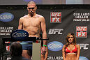 NASHVILLE, TN - JANUARY 19:  Josh Neer weighs in during the UFC on FX official weigh in at Bridgestone Arena on January 19, 2012 in Nashville, Tennessee.  (Photo by Josh Hedges/Zuffa LLC/Zuffa LLC via Getty Images)