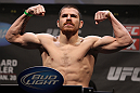 NASHVILLE, TN - JANUARY 19:  Jim Miller weighs in during the UFC on FX official weigh in at Bridgestone Arena on January 19, 2012 in Nashville, Tennessee.  (Photo by Josh Hedges/Zuffa LLC/Zuffa LLC via Getty Images)