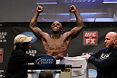 NASHVILLE, TN - JANUARY 19:  Melvin Guillard weighs in during the UFC on FX official weigh in at Bridgestone Arena on January 19, 2012 in Nashville, Tennessee.  (Photo by Josh Hedges/Zuffa LLC/Zuffa LLC via Getty Images)