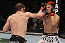 NASHVILLE, TN - JANUARY 20:  (L-R) Nick Denis punches Joseph Sandoval during the UFC on FX event at Bridgestone Arena on January 20, 2012 in Nashville, Tennessee.  (Photo by Josh Hedges/Zuffa LLC/Zuffa LLC via Getty Images)