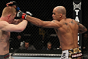 NASHVILLE, TN - JANUARY 20:  (R-L) Jorge Rivera punches Eric Schafer during the UFC on FX event at Bridgestone Arena on January 20, 2012 in Nashville, Tennessee.  (Photo by Josh Hedges/Zuffa LLC/Zuffa LLC via Getty Images)