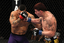 NASHVILLE, TN - JANUARY 20:  (R-L) Jared Papazian punches Mike Easton during the UFC on FX event at Bridgestone Arena on January 20, 2012 in Nashville, Tennessee.  (Photo by Josh Hedges/Zuffa LLC/Zuffa LLC via Getty Images)