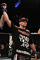 NASHVILLE, TN - JANUARY 20:  Josh Neer reacts after defeating Duane Ludwig by submission during the UFC on FX event at Bridgestone Arena on January 20, 2012 in Nashville, Tennessee.  (Photo by Josh Hedges/Zuffa LLC/Zuffa LLC via Getty Images)