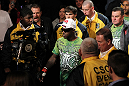 NASHVILLE, TN - JANUARY 20:  Melvin Guillard enters the arena before his bout against Jim Miller during the UFC on FX event at Bridgestone Arena on January 20, 2012 in Nashville, Tennessee.  (Photo by Josh Hedges/Zuffa LLC/Zuffa LLC via Getty Images)