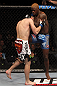 NASHVILLE, TN - JANUARY 20:  (R-L) Melvin Guillard delivers a knee strike against Jim Miller during the UFC on FX event at Bridgestone Arena on January 20, 2012 in Nashville, Tennessee.  (Photo by Josh Hedges/Zuffa LLC/Zuffa LLC via Getty Images)